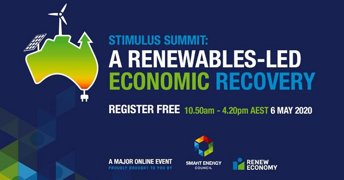 Smart Energy Council Stimulus Summit Poster